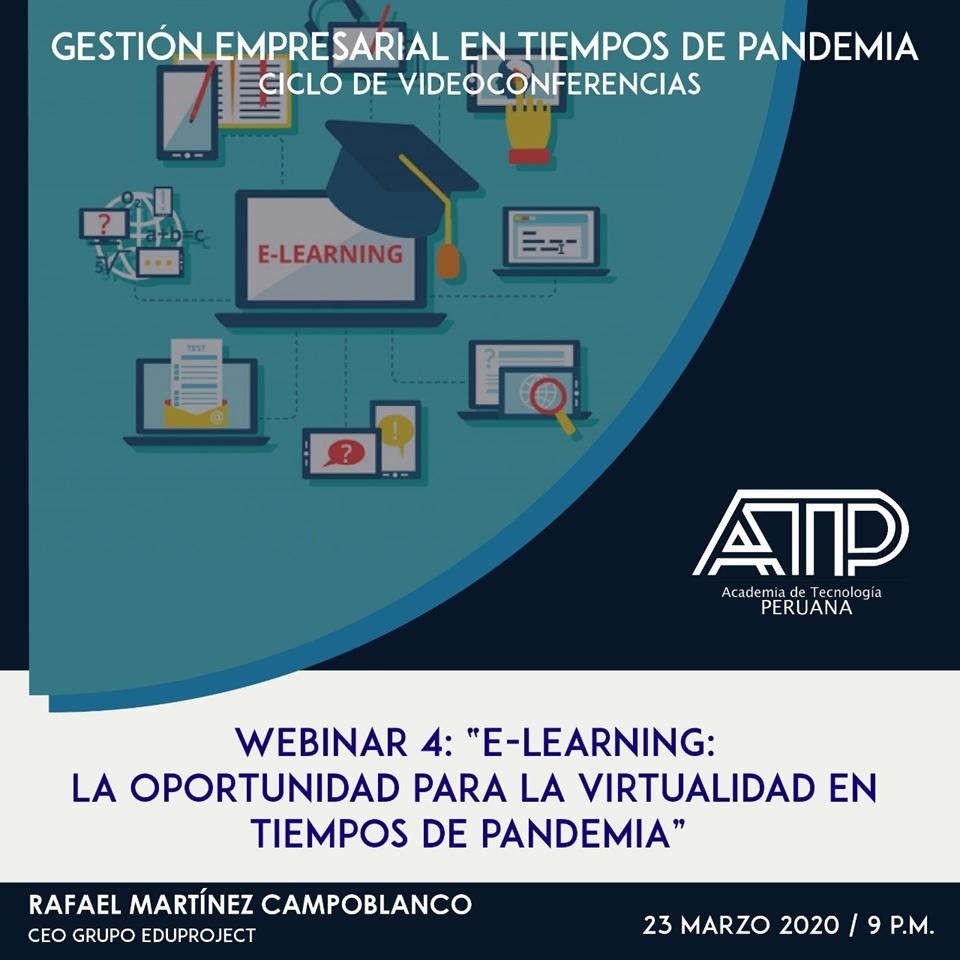 E-Learning: La oportunidad para la virtualidad en tiempos de pandemia