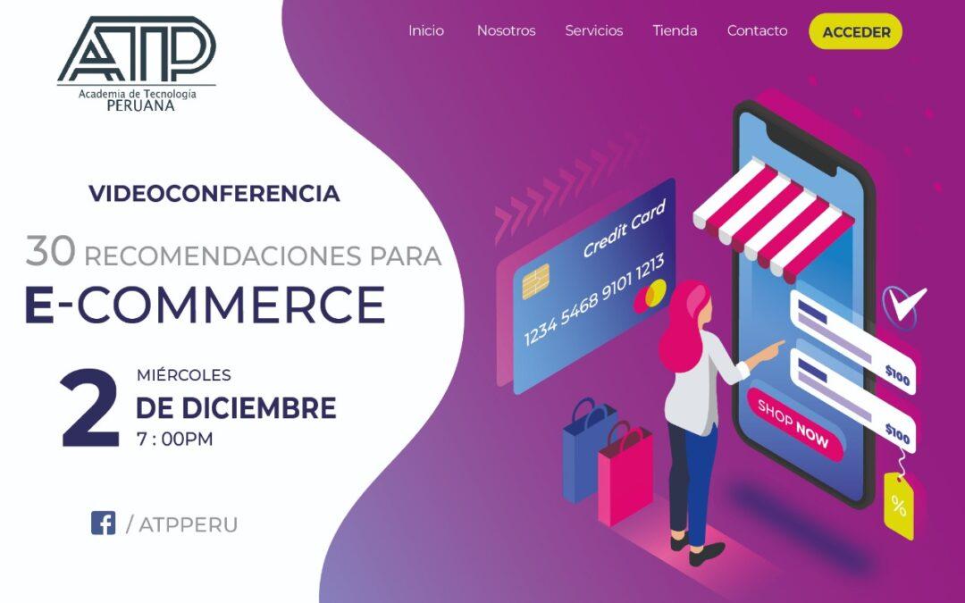 30 Recomendaciones para E-Commerce