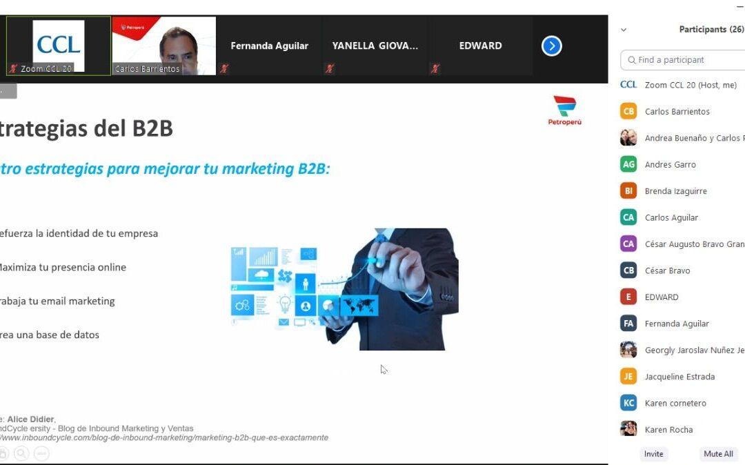 Diplomado de Marketing Digital Estratégico de la Cámara de Comercio de Lima.