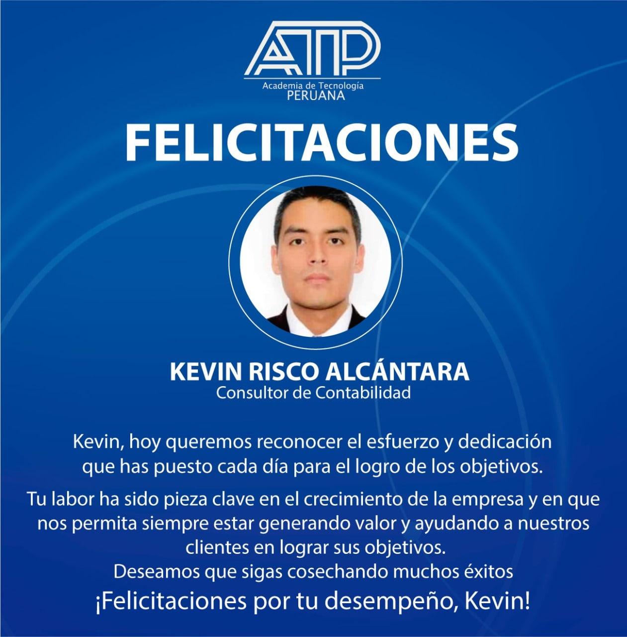 ¡Gracias kevin Risco por ser parte de la familia ATP!