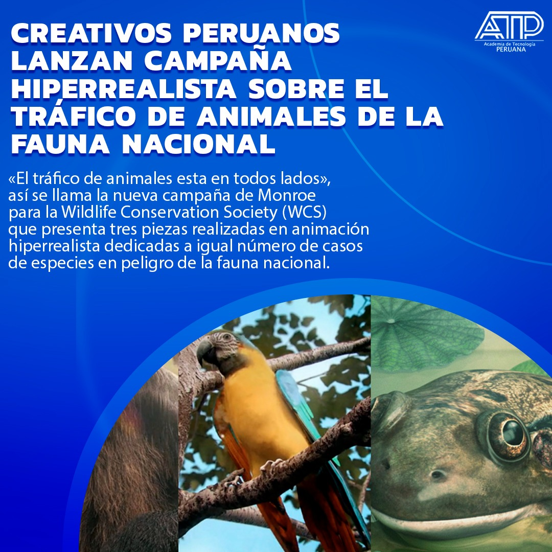 Creativos peruanos lanzan campaña hiperrealista sobre el tráfico de animales de la fauna nacional