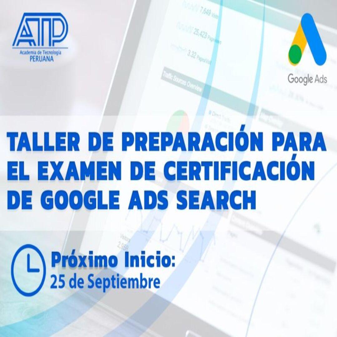 Taller de preparación para el examen de certificación de GOOGLE ADS SEARCH