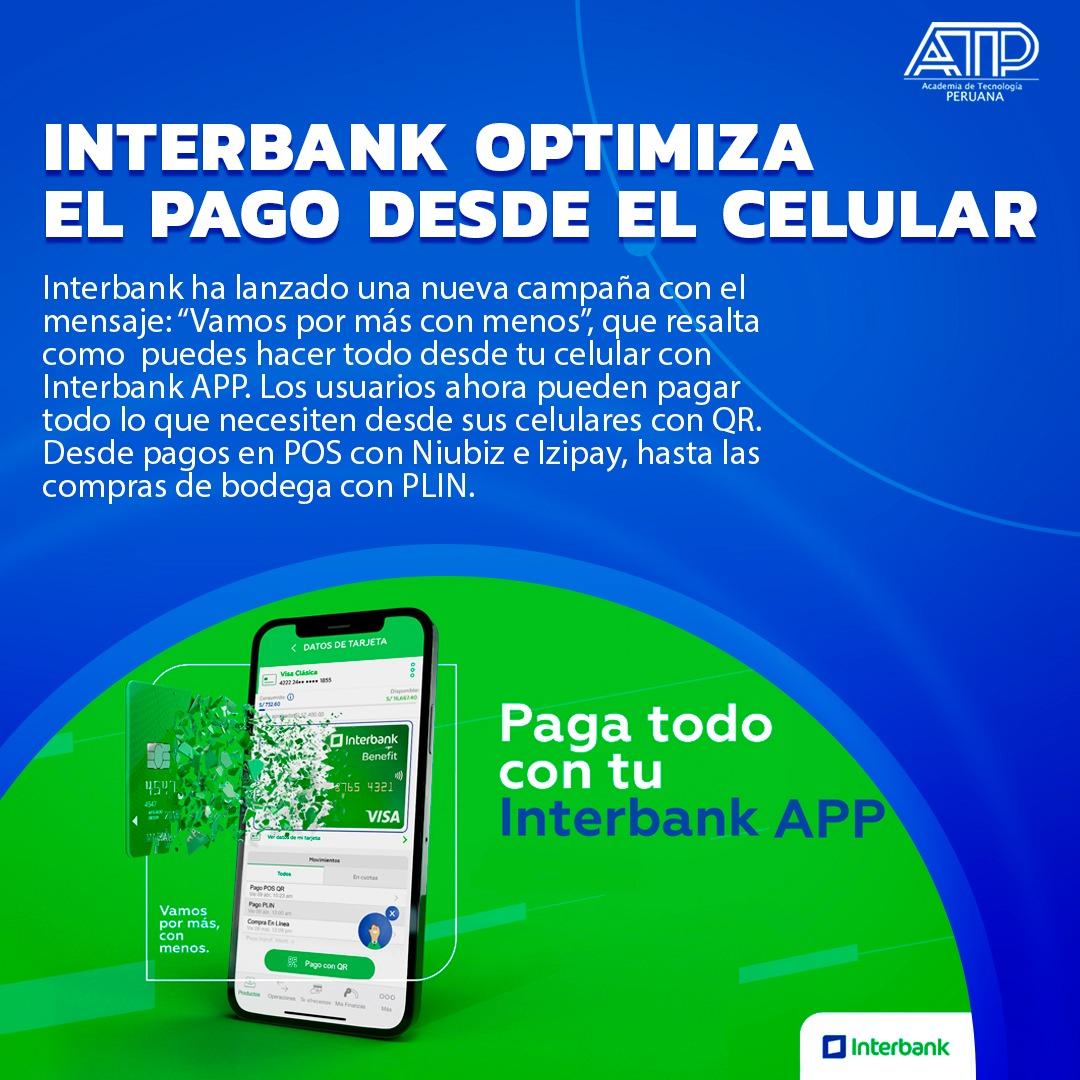 INTERBANK optimiza el pago desde el celular