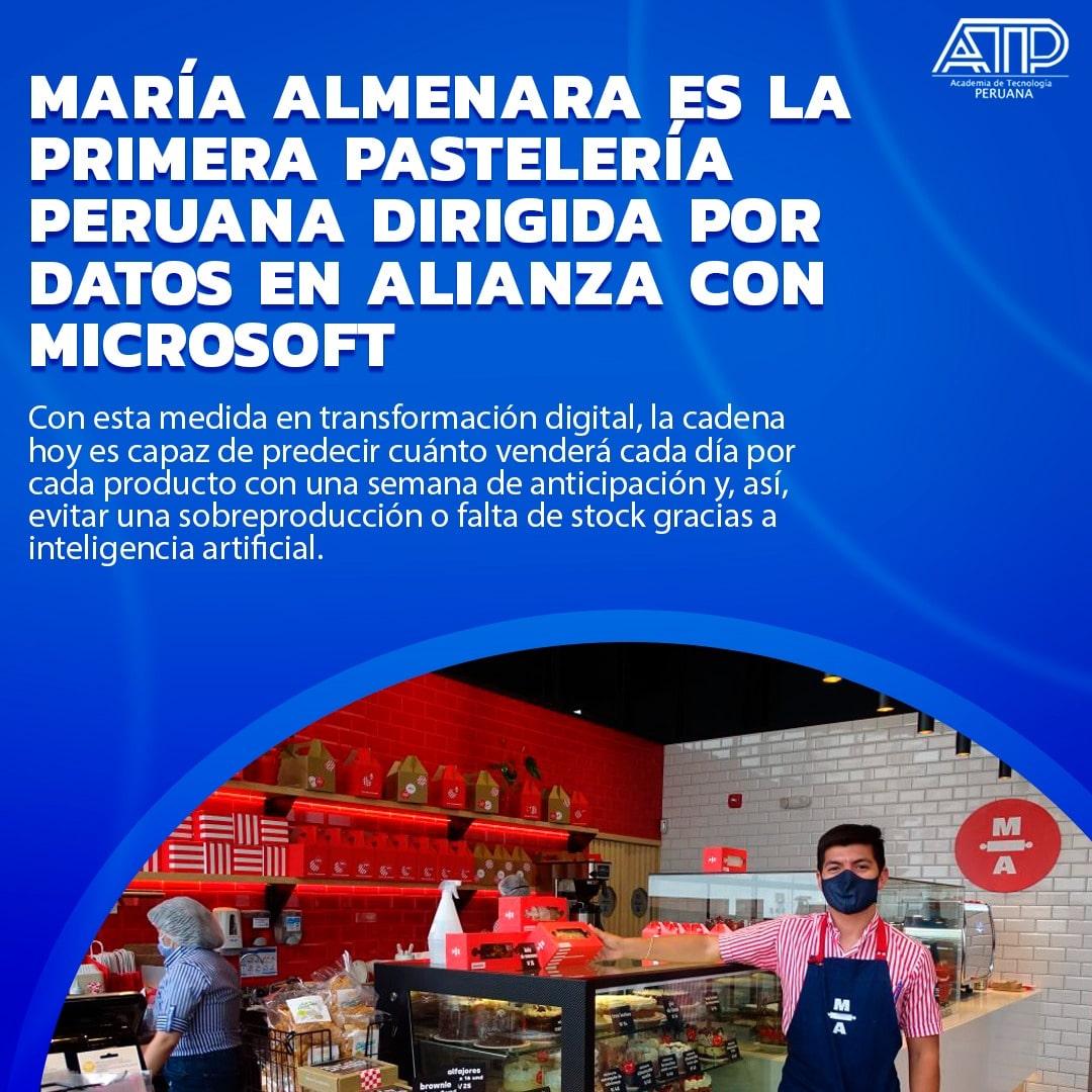 María Almenara es la primera pastelería peruana dirigida por datos en alianza con Microsoft